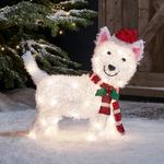 decoration de noel extérieure chien lumineux led vendu sur deco-lumineuse.fr