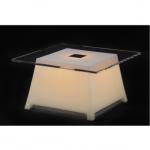 table lumineuse led raffy blanche vendue sur www.deco-lumineuse.fr