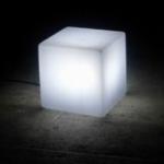 cube lumineux led blanc piles vendu sur www.deco-lumineuse.fr