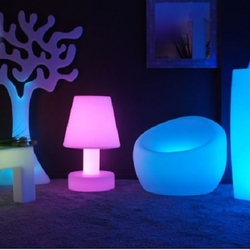 Lampe led design multicolore deco lumineuse for Lampe led exterieur design