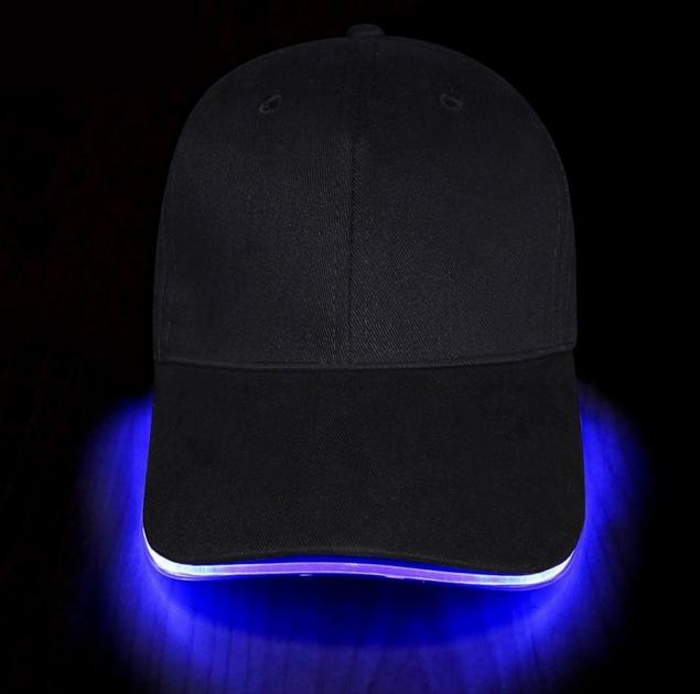 casquette lumineuse led bleue vendue sur deco-lumineuse.fr