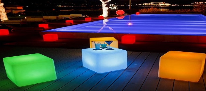 Cube lumineux led sans fil deco lumineuse for Cube luminaire exterieur