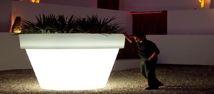 Pots lumineux led avec fil deco lumineuse - Pot de fleur xxl ...