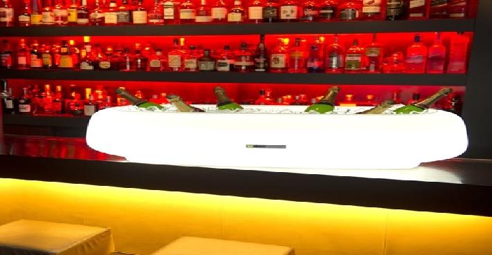 seau champagne led,seau champagne lumineux,seau led design vendu sur www.deco-lumineuse.fr