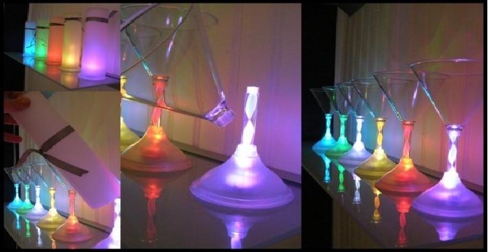 verres led,verres lumineux,verres lumineux led vendus sur www.deco-lumineuse.fr