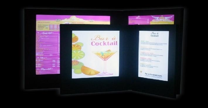 porte menu,porte menus bar,porte menu restaurant,porte menus led vendu sur www.deco-lumineuse.fr
