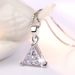 Simple-Triangle-cristal-Zircon-pierre-Collier-g-om-trique-sans-Collier-femmes-Collier-Femme-Argent-Femme