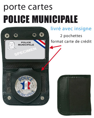 Porte carte m daille pm police nationale municipale - Porte carte police nationale avec grade ...
