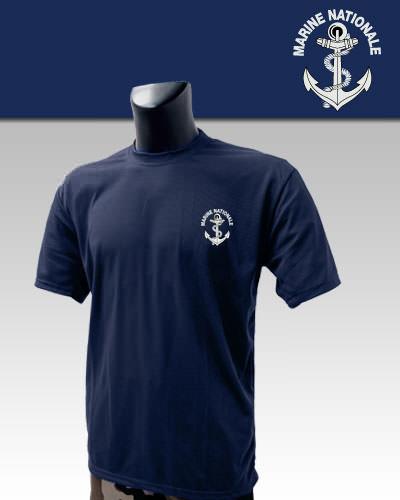 Tee-Shirt Bleu imprimé Marine Nationale