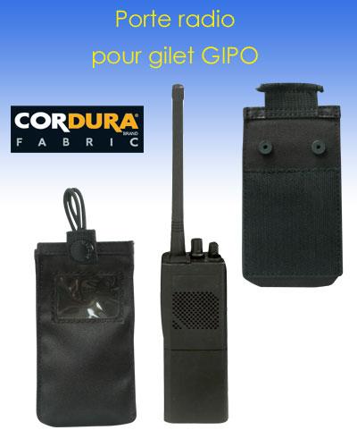 Porte radio pour gilet modulable gipo gendarmerie for Radio pour ouvrir porte