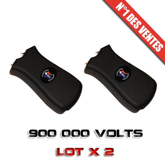 Lot x 2 Paralyseurs Shockers électriques 900 000 Volts rechargeable + Led éblouissante  !