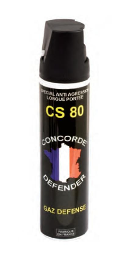 Spray de défense lacrymogène gaz cs 75 ml
