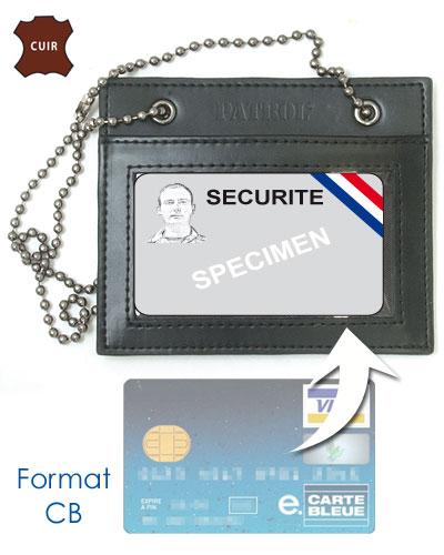 Porte carte sécurité