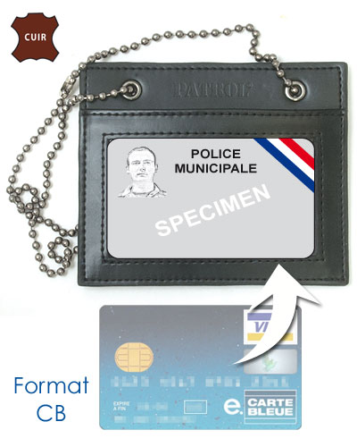 Porte carte police municipale police nationale - Porte carte police nationale avec grade ...