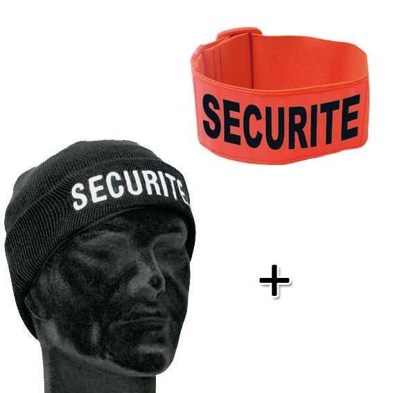 Pack Bonnet + Brassard SECURITE