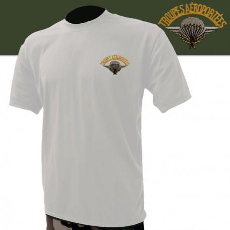 Tee-shirt blanc brodé Para