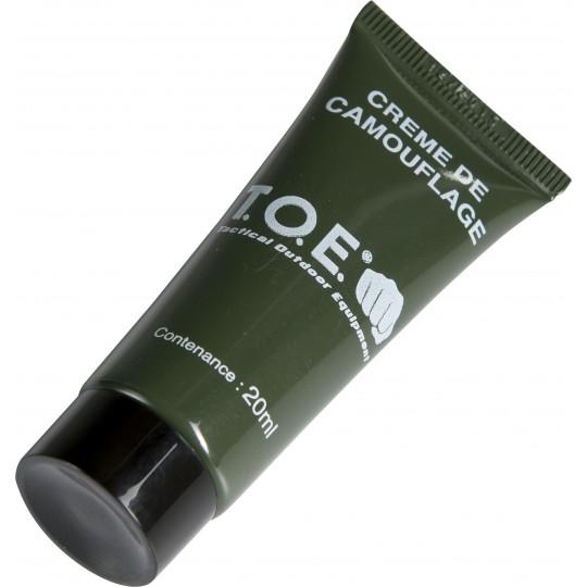 Tube crème peinture camouflage noir