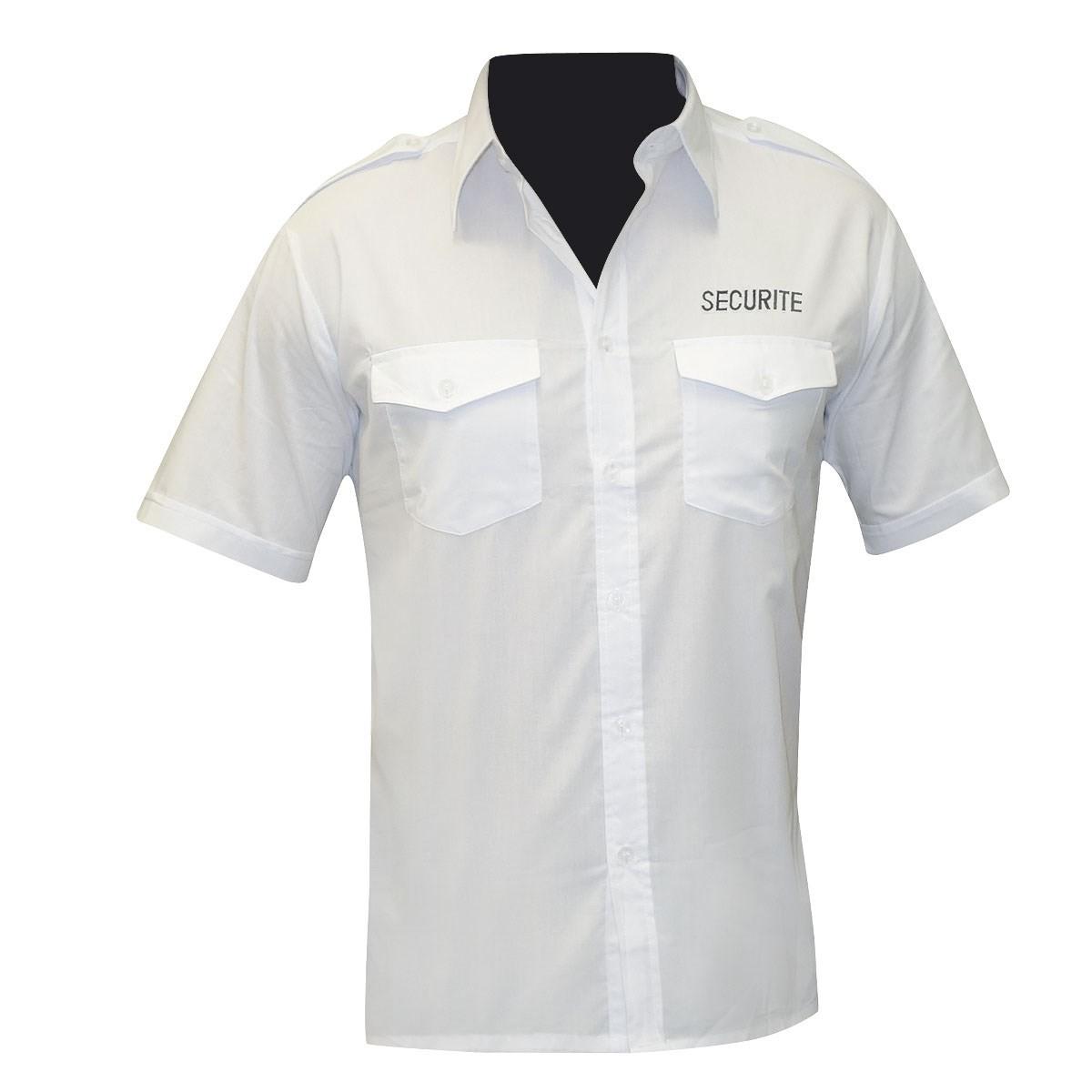 Chemise pour agent de sécurité brodée manches courtes