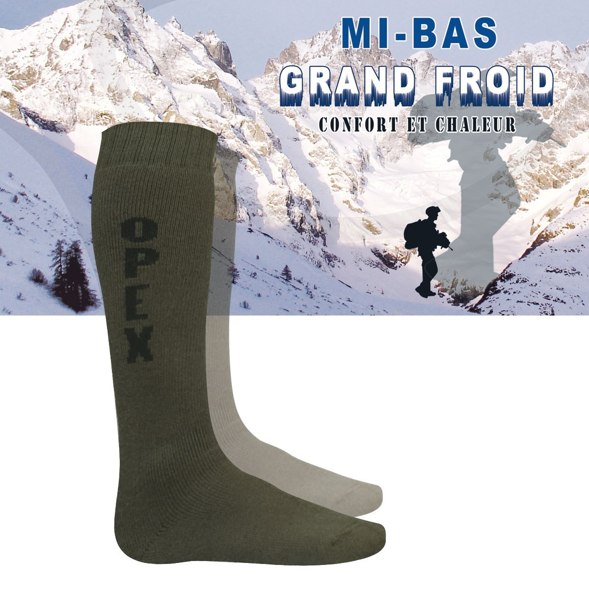 Chaussette militaire grand froid