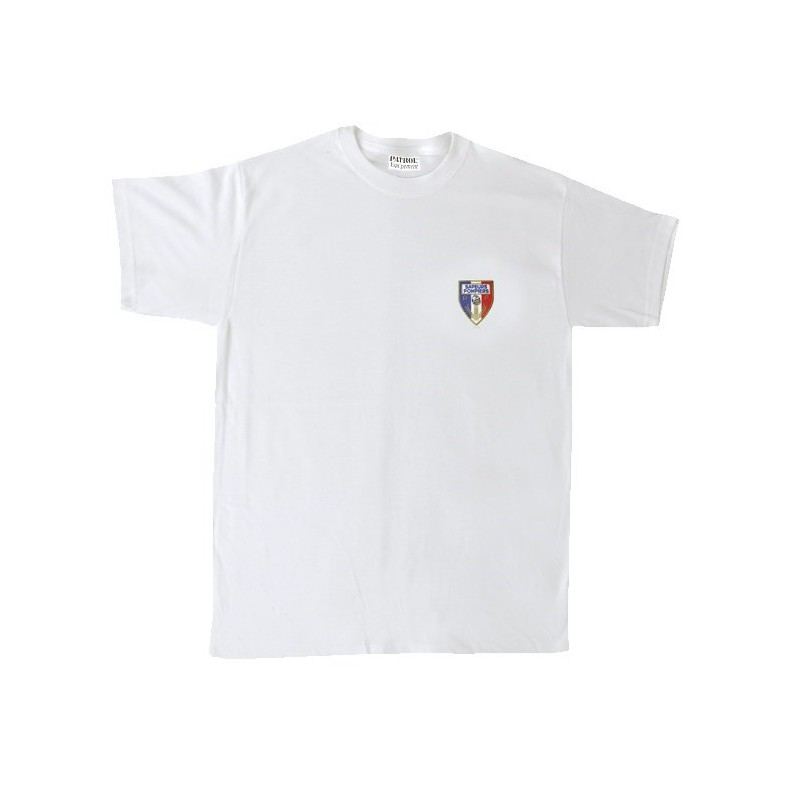 Tee-shirt brodé sapeurs pompiers