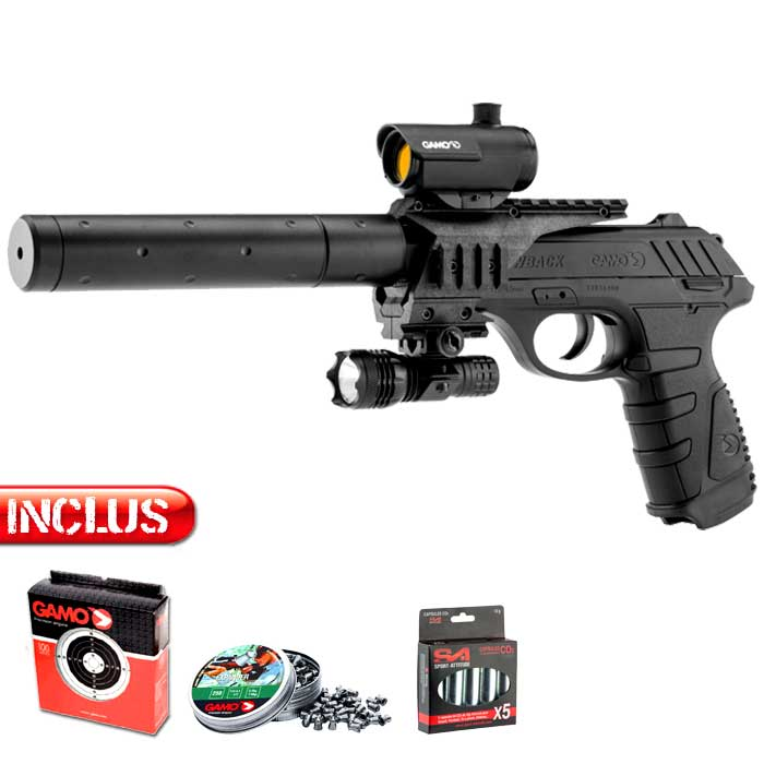 Pistolet à plomb Tactical Gamo PT25 Tactical co2