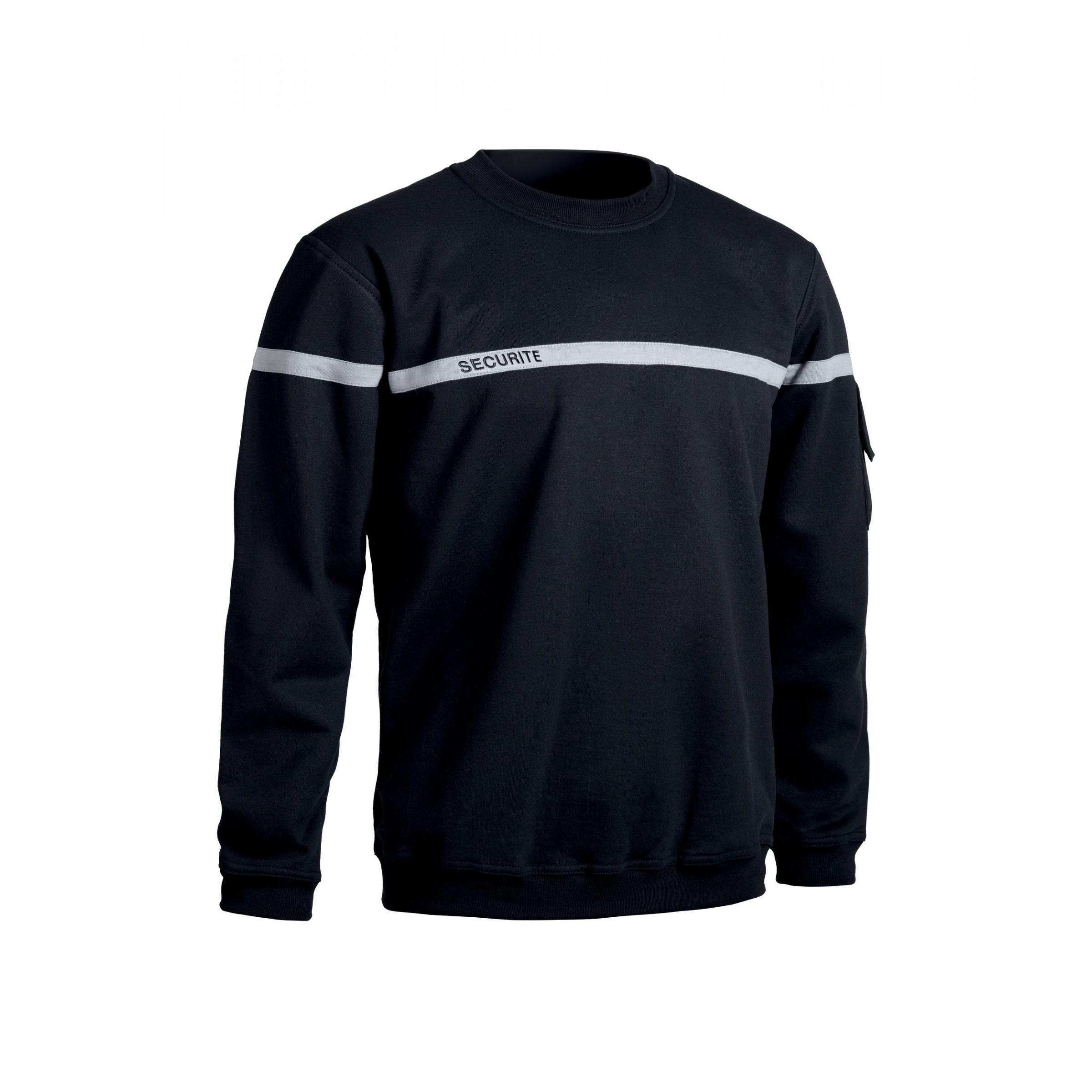 Sweat shirt bande grise pour agent de sécurité