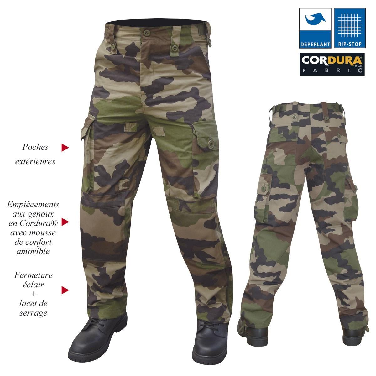 Pantalon militaire guerilla ripstop camouflage