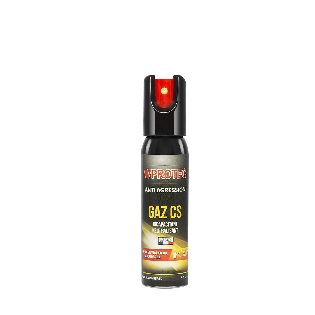 Lacrymogène gaz cs 25ml IMPACT VPROTEC
