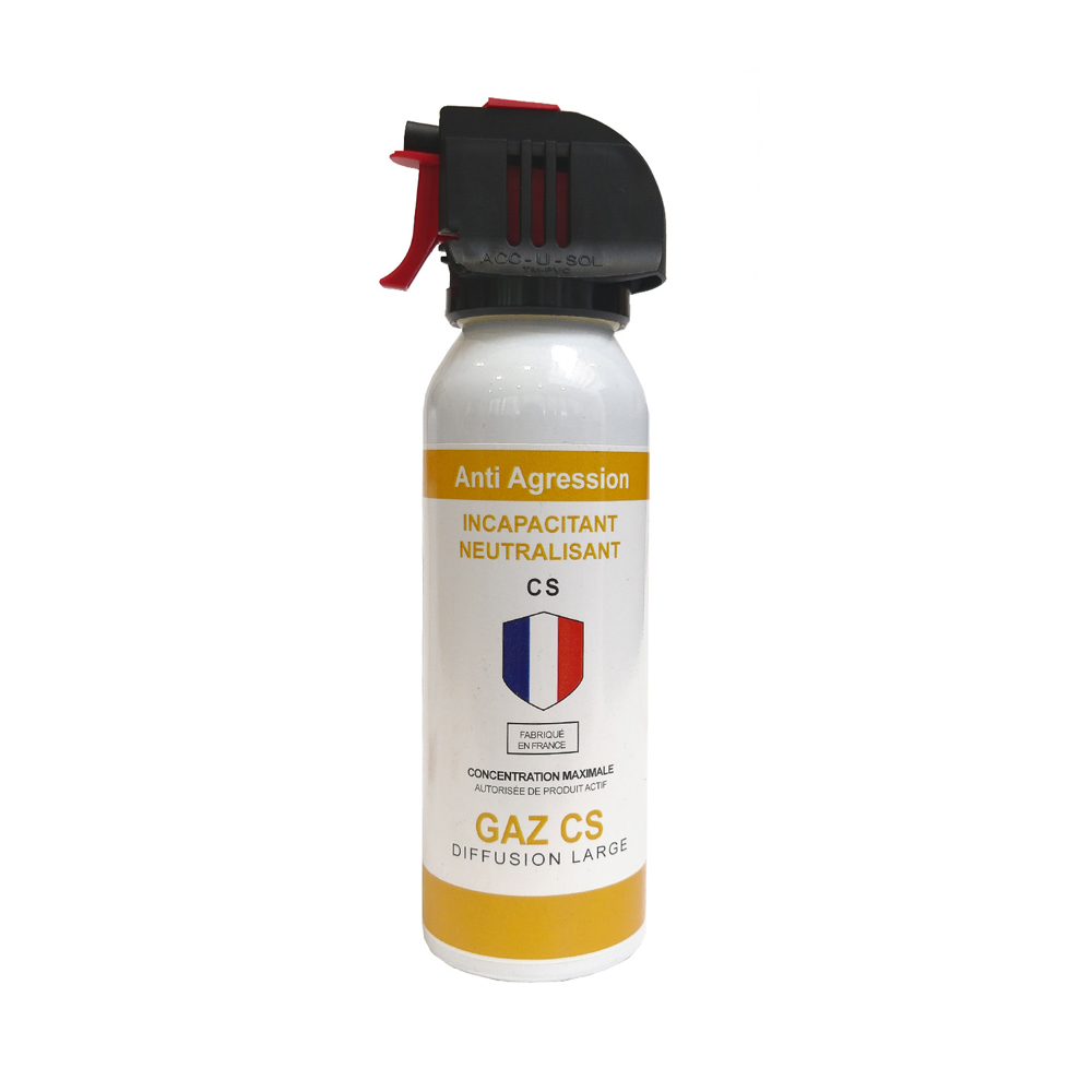 Aérosol de défense  ACCUSOL 100 ml gaz CS