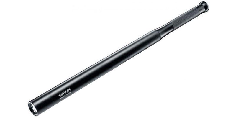 Batte en aluminium avec torche led intégrée 53 cm