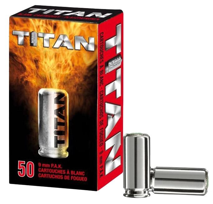 Boîte de 50 cartouches à blanc 9 mm TITAN
