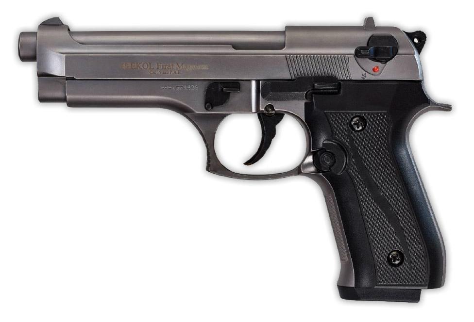 Pistolet de défense EKOL modèle Beretta 92 F fumé calibre 9mm