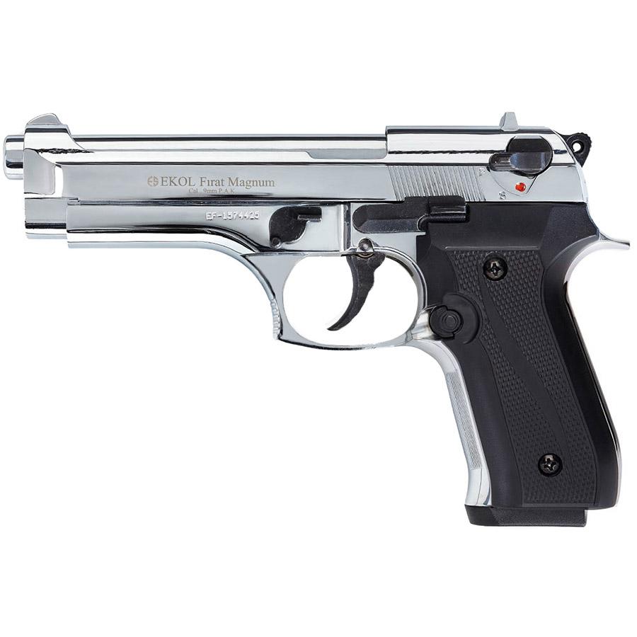 Pistolet de défense EKOL modèle Beretta 92 F chrome calibre 9 mm