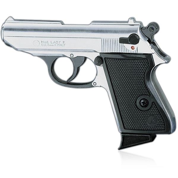 Pistolet de défense discret LADY k calibre 9 mm chrome