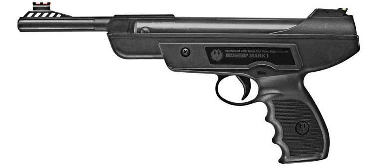 Pistolet à plomb air comprimé calibre 4,5 mm RUGER MARK I 7,5 joules