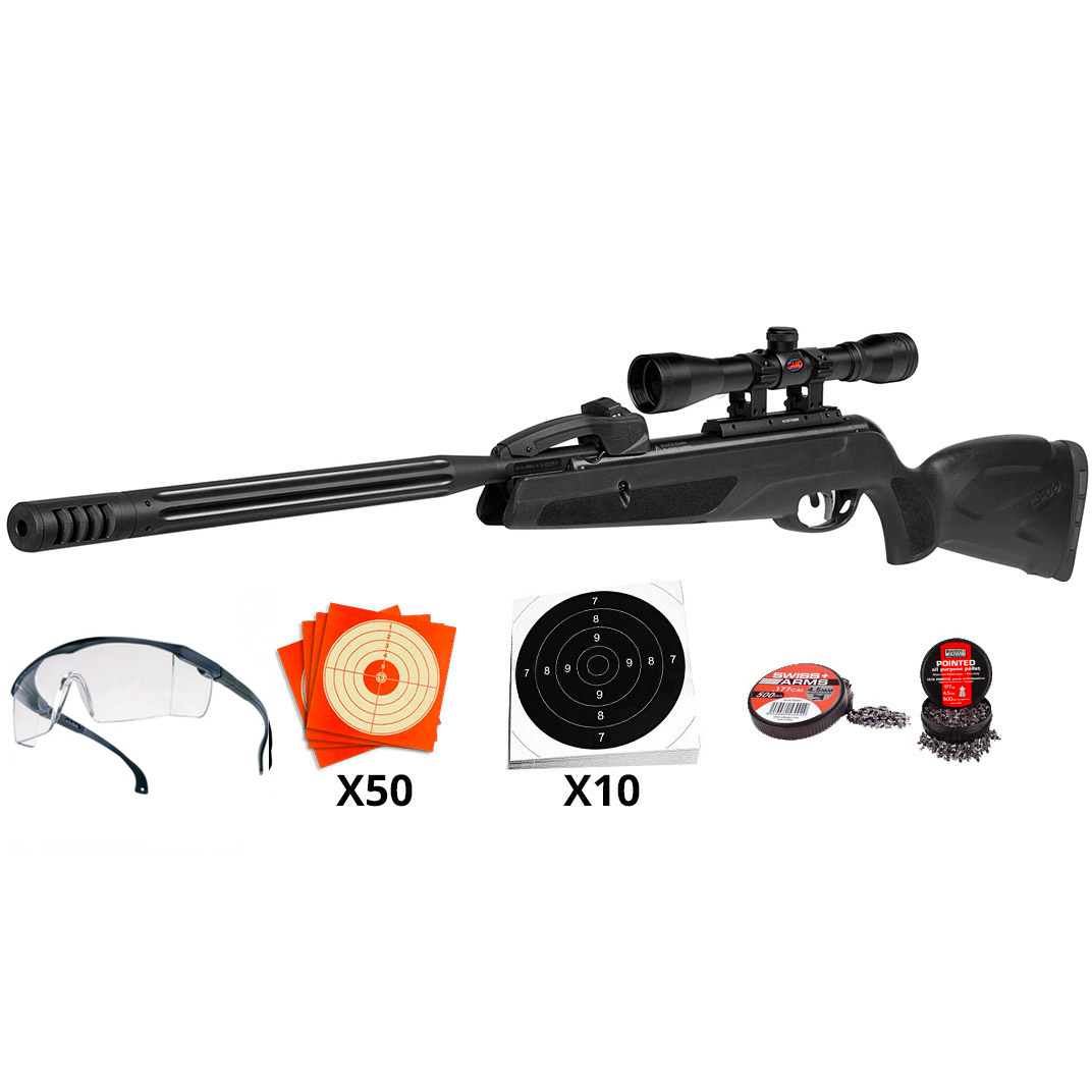 Kit Carabine à plombs Gamo Replay Maxxim 10 coups calibre 4,5 mm 19,9 joules