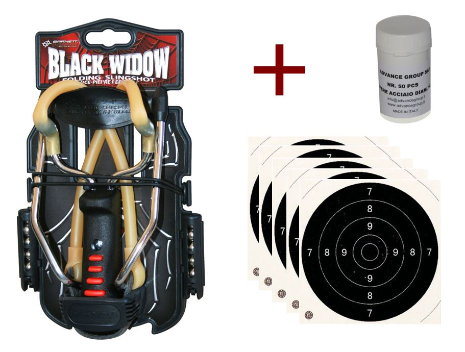 Pack Lance-pierre Black Widow Barnett