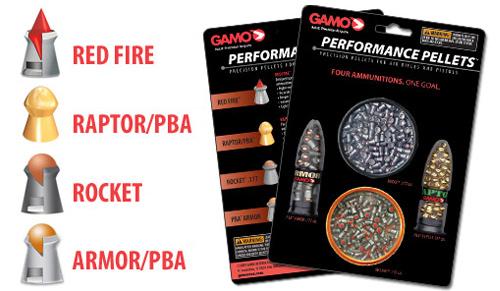 Pack Performance 4 modèles de plombs Gamo calibre 4.5 mm