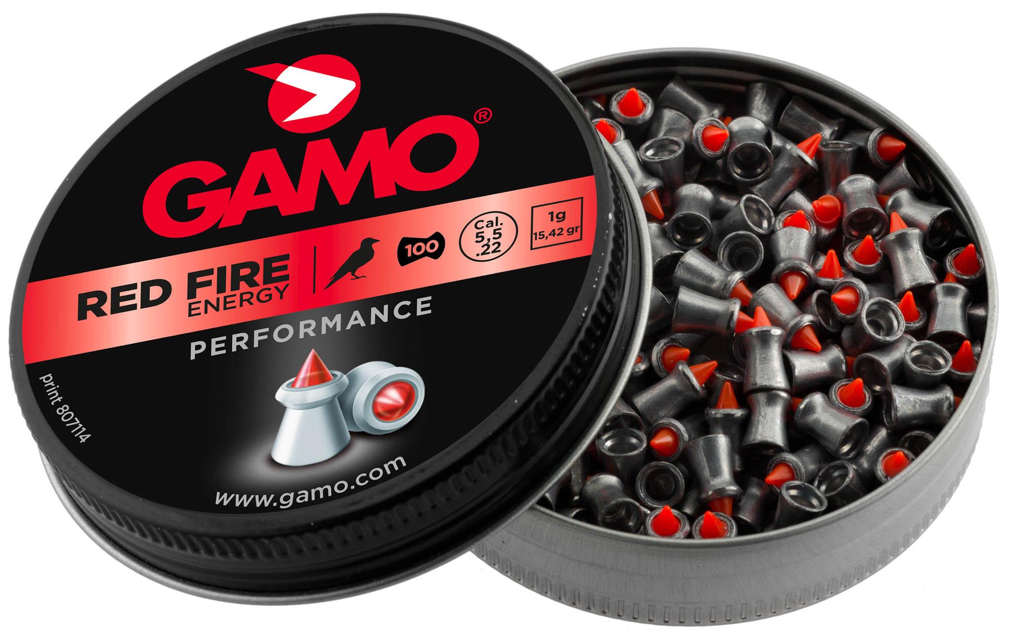 Boîte de 100 plombs red fire Gamo calibre 4.5 mm