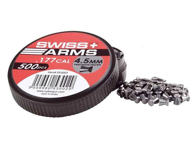 500 Plombs Swiss Arms plats 4.5mm