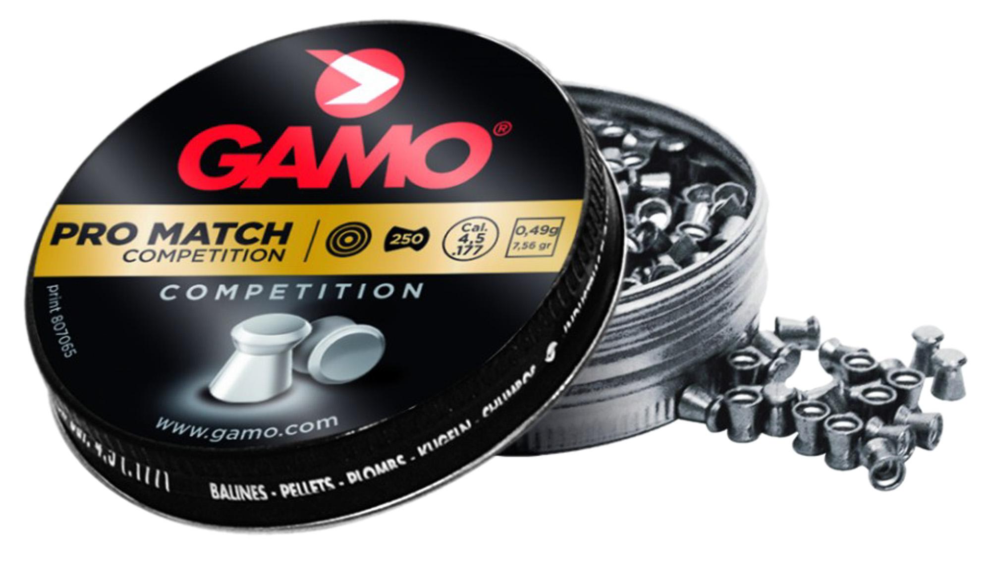 Boîte de 250 plombs Gamo Pro Match Competition calibre 4,5 mm
