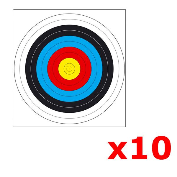 Lot de 10 cibles pour arbalète Field 64 X 61 cm