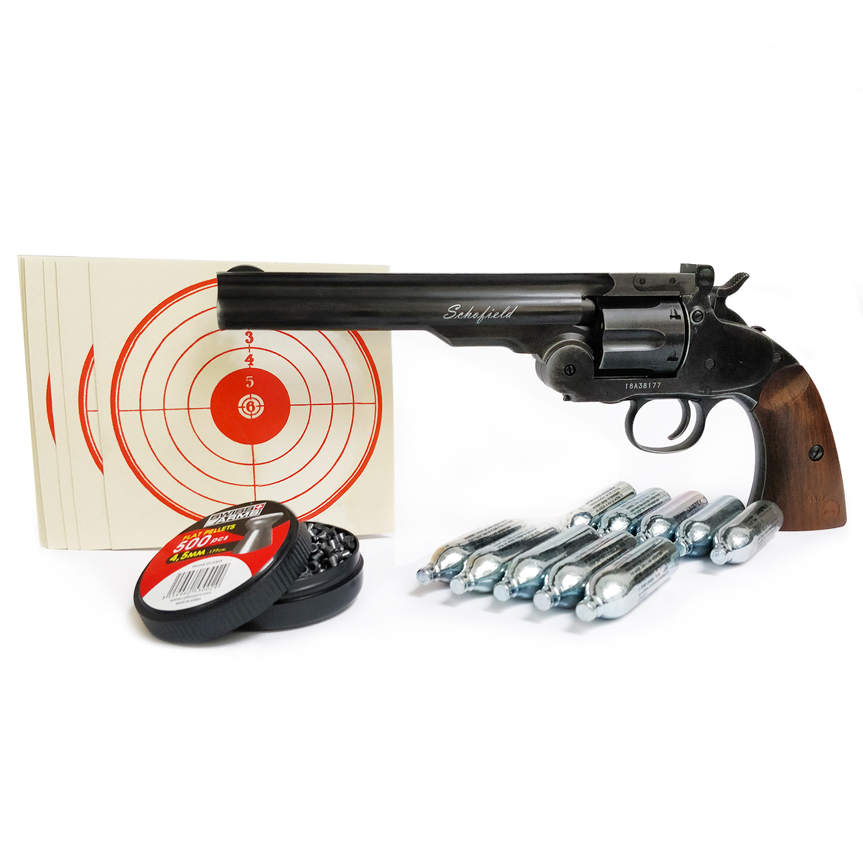 Kit revolver plombs 6 Schofield noir vieilli calibre 4,5 mm