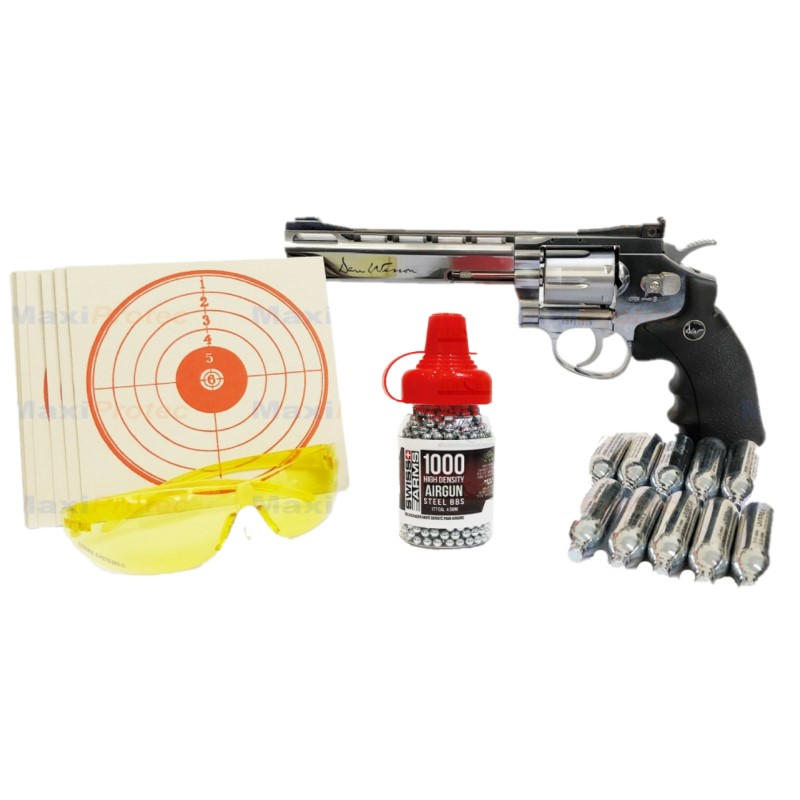 Kit Revolver Dan Wesson Chromé 6 cal. 4.5 mm
