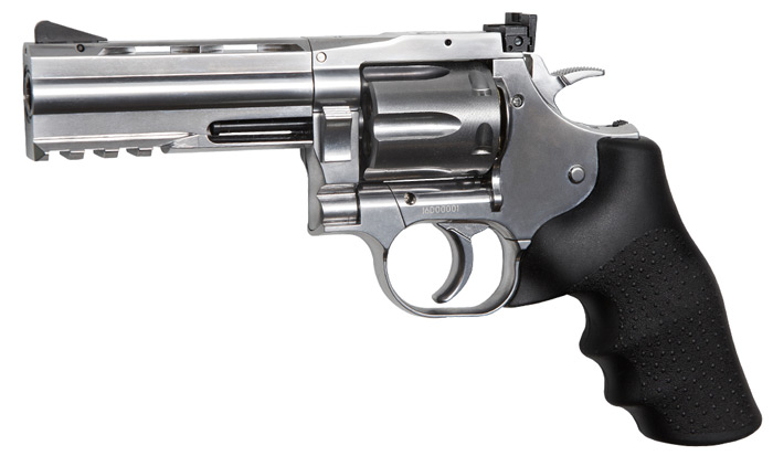 Réplique revolver Dan Wesson 715 chromé 4 calibre 4,5mm billes acier BBS