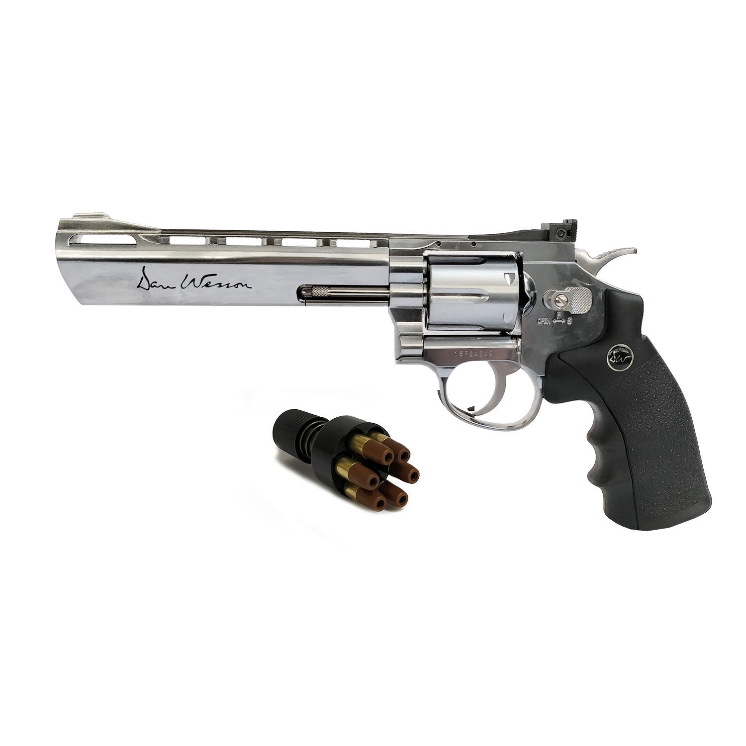 Réplique revolver Dan Wesson 715 chrome 6 calibre 4,5mm Plombs