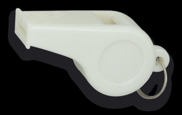 Sifflet en Plastique blanc 5 cm