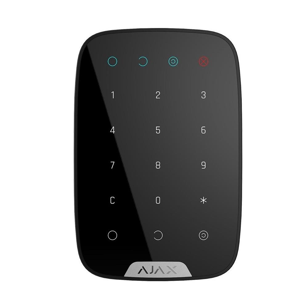 Clavier digicode tactile noir sans fil pour alarme HUB Ajax