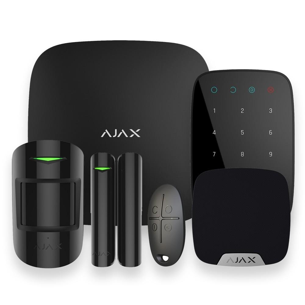 Pack complet StarterKit alarme maison Ajax Noir