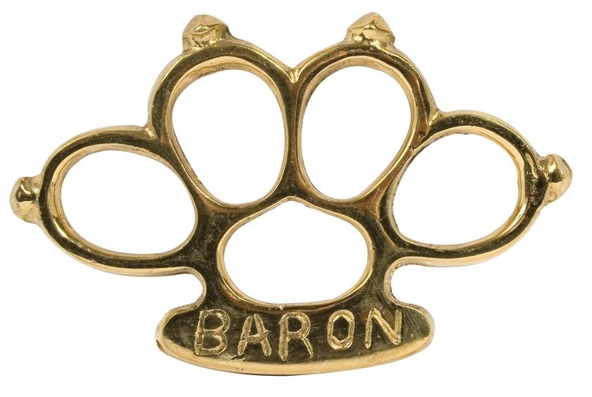 Poing américain Baron avec pointes